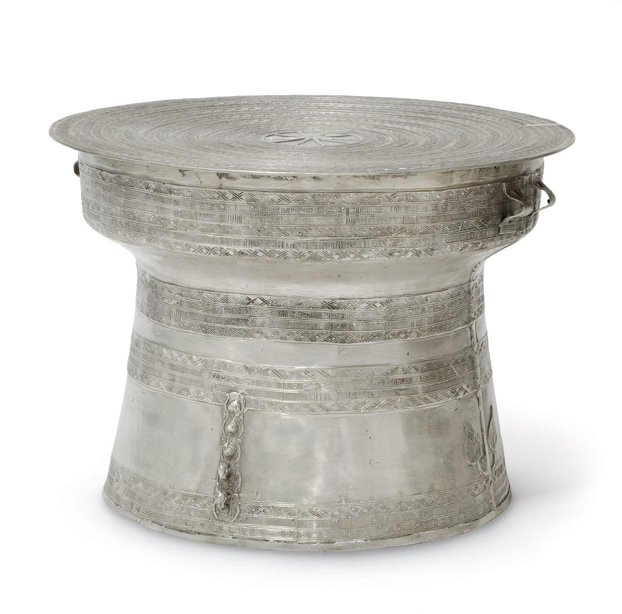 Silver Rain Drum Table Shelley Starr Interior Design